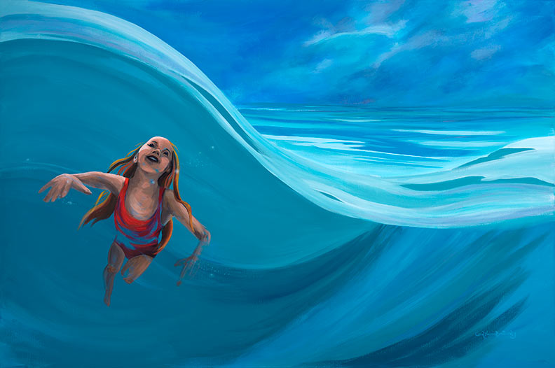 Swimming Girl by Carol Knowlton-Dority