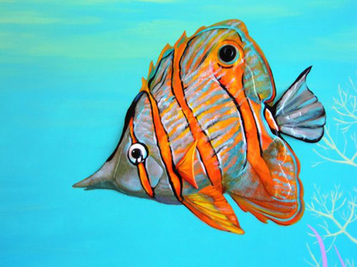 Big Butterfly Fish by Carol Knowlton-Dority